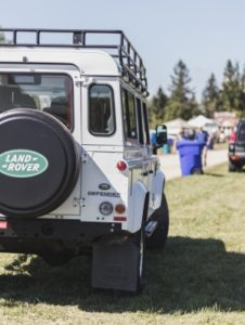 Parked Land Rover