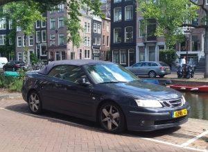 Parked Saab