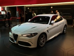 Alfa Romeo Giulia on display