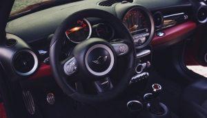 Mini Cooper steering wheel